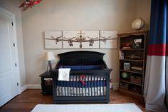 Vintage airplane nursery - this. Ideally WWII era planes ...