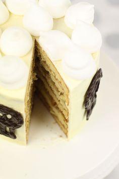 Layer cake banane, noix, confiture de prune #layercake #halloween