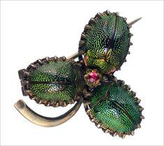 "eriebasin: "" Victorian Scarab Beetle Brooch (in the online shop) "" Insect Jewelry, Jewelry Art, Vintage Jewelry, Jewellery, Bug Art, Bugs, Insects, Victorian, Schmuck"