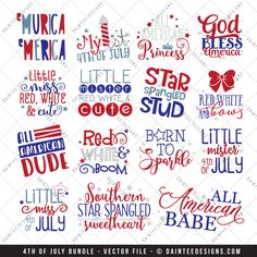 Featured here is our of July Bundle - Vector Cut File. This is for the whole bundle instead of buying each file individually. There are 15 compressed zip files in this purchase. You will receiv Vinyl Crafts, Vinyl Projects, Fair Projects, July Quotes, July 4th Sayings, Free Svg, Silhouette Machine, Kids Silhouette, Silhouette Portrait