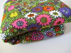 Vintage Fabric Floral Print Polyester