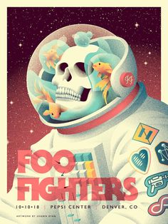 Official poster for the Denver concert by us to get featured on Rock Posters, Band Posters, Concert Posters, Music Posters, Event Posters, Foo Fighters Poster, Concert Rock, Music Artwork, Branding