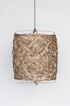 'bird's nest medium' woven bamboo