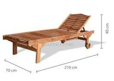 Resultado de imagem para espreguiçadeira madeira Pool Chairs, Outdoor Chairs, Outdoor Decor, Pallet Furniture, Furniture Making, Outdoor Furniture, Pool Bed, Diy Chair, Chair Design