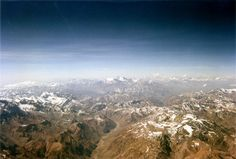 The Andes as seen from a plane flying from Santiago, Chile to Buenos Aires, Argentina...YES PLEASE!