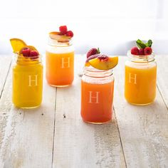 Cathy Personalized 16-ounce Mason Jars (Set of 4) (No Initial), Clear (Glass)