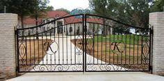 entrance gates | ... 248-4926 E-MAIL:info@tuscumbiaironworks.com forged wrought iron gates