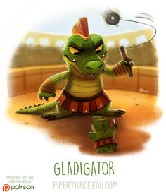 Daily Paint Gladigator by Piper Thibodeau on ArtStation.