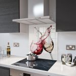 Red and White Wine - Glass Splashback - 100cm Wide x 75cm High