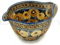 Polish Pottery Stoneware BATTER BOWL  Can't wait to get mine!