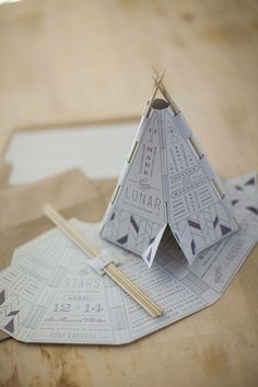 invitations- assemble a teepee