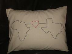 State Love Pillow  Africa Love Texas  mary-marthas.blogspot.com