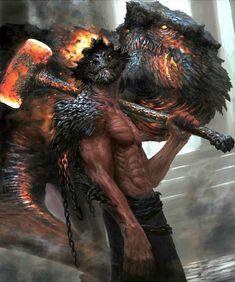PHOTO OF monsters_worls … - Wallpaper Dark Fantasy Art, Fantasy Artwork, Dark Art, Beautiful Fantasy Art, Fantasy Character Design, Character Art, Character Ideas, Fantasy Creatures, Mythical Creatures