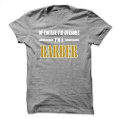 Of Course Im Awesome Im a HOUCK - #bestfriend gift #shirt design. SIMILAR ITEMS => https://www.sunfrog.com/Names/Of-Course-Im-Awesome-Im-a-BARBER-xpqsngsmni-Ladies.html?60505