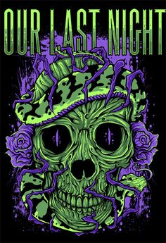 Our Last Night Metal Band Logos, Metal Bands, Great Bands, Cool Bands, Epitaph Records, Night Tattoo, The Wombats, Bullet For My Valentine, Our Last Night