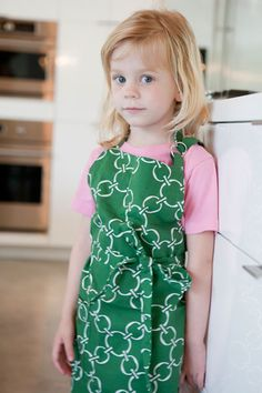 Green Junior Cook's Apron   Hen House Linens
