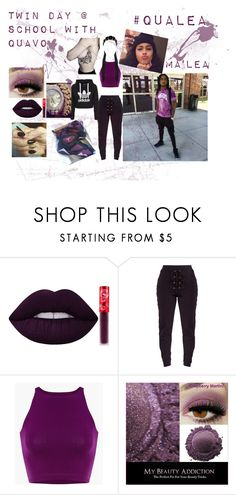 """[Purple]  //Quavo//"" by breezy-blu on Polyvore featuring Lime Crime, migos, quavo, QuavoMigos, Quavoedit and QuavoMarshall"
