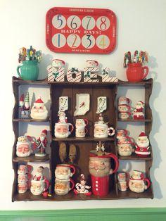Santa mugs Santa Mugs, Happy Day, Advent Calendar, Christmas Classics, Holiday Decor, Mom, Home Decor, Decoration Home, Room Decor