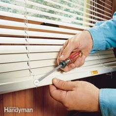 Horizontal blinds that are too long look bad, but also create a serious safety hazard for young children. Fortunately, shortening them is easy—all you need are scissors and a screwdriver.