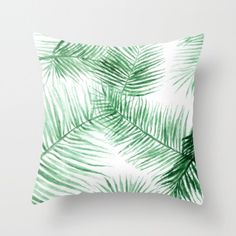 A personal favorite from my Etsy shop https://www.etsy.com/listing/479891563/palm-leaf-throw-pillow-cover-palm-leaf