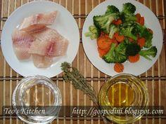Peste cu broccoli la cuptor - Retete culinare by Teo's Kitchen
