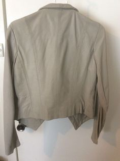 KOOKAI Stylish Grey Leather Jacket AU12-14 (40) EUC  4f49ced41