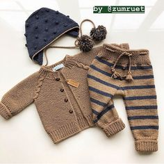 Crochet Bebe, Crafts To Make Baby Boy Knitting, Knitting For Kids, Baby Knitting Patterns, Lace Knitting, Baby Patterns, Knit Lace, Pull Bebe, Knitted Baby Clothes, Baby Cardigan