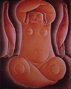 A Mulher Sentada 1924 | Vicente do Rego Monteiro óleo sobre tela, c.i.d. 160.00 x 140.00 cm