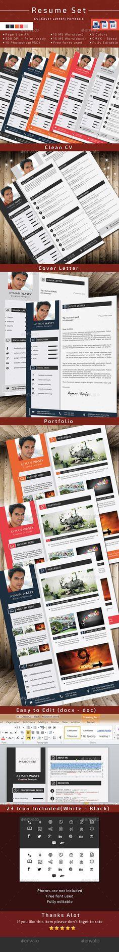 Resume CV Template #design #template Download: http://graphicriver.net/item/resume-cv/10257420?ref=ksioks