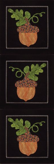 ~ Acorns-Away-Skinny-Wall Hanging ~