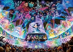 Disney 2000pcs Puzzle [Water Dream Concert] by Tenyo Disney Kunst, Arte Disney, Disney Magic, Disney Mickey, Disney Dream, Disney Love, Disney Stuff, Disney Jigsaw Puzzles, Dream Concert