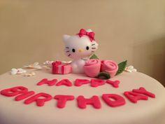 Hello Kitty Cake_Valentina|Bakery World birthday cake, torta di compleanno Torta al cioccolato con ganache al cioccolato fondente. https://www.facebook.com/ValentinaBakeryWorld