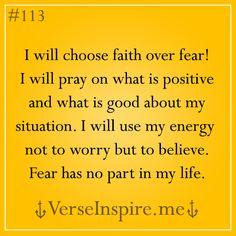 #faith #pray #believe! Goodbye fear! ;)