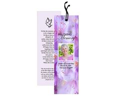 Memorial Bookmarks : Lavender Bookmark Template