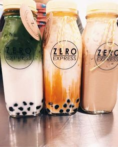 382 Likes, 65 Comments - Zero Express Fun Drinks, Yummy Drinks, Healthy Drinks, Beverages, Smoothie Drinks, Smoothie Recipes, Smoothies, Boba Drink, Bubble Milk Tea