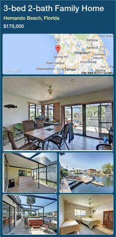 3-bed 2-bath Family Home in Hernando Beach, Florida ►$170,000 #PropertyForSaleFlorida http://florida-magic.com/properties/52846-family-home-for-sale-in-hernando-beach-florida-with-3-bedroom-2-bathroom