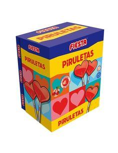 Las Piruletas Cereza Fiesta se ha convertido en uno de los caramelos con palo más vendidos de la marca fiesta. Shopping, Lollipops, Candies, Infancy, Summer Time, Party