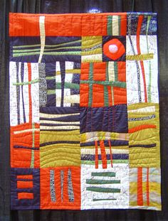 Quilt on display at Long Beach Quilt Festival