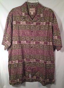 WOOLRICH Hawaiian Camp Shirt Short Sleeve 100% COTTON Mens Size XL http://www.ebay.com/itm/231809903010