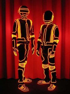 Daft Punk EL wire costumes
