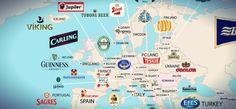VinePair, un magazine online americano che si occupa di vino e birra, ha messo insieme una mappa delle birre più popolari in ciascun paese del mondo. Per compilare la mappa, VinePair dice di aver considerato «decine di fonti, fra report di ricerca e documenti aziendali».