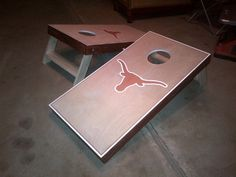 Texas Longhorn Cornhole Set I want to make one of these for the back yard!