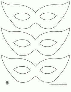Click to Print - Printable Masquerade Mask Pattern Template