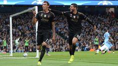 Mario Mandžukić and Álvaro Morata rejoice - the latter claimed the winner for the visitors nine minutes from time