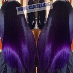I like that this looks black with purple ends. Nice Custom color purple hair a POP of COLOR,Crown & Glory,Hair,Hair & Beauty,Hair Weave Hairstyles, Pretty Hairstyles, Hairstyles Men, Black Hairstyles, Color Fantasia, Beautiful Hair Color, Natural Hair Styles, Long Hair Styles, Looks Black
