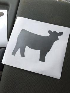 Show Cattle Heifer Vinyl Sticker  Option 3 by CarouselDesign