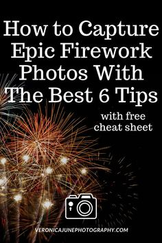 Take firework photos like a pro! Simple and effective ways to take incredible photos of fireworks - with clip out cheat sheet of settings to keep in your camera bag! Night Time Photography, Fireworks Photography, Photography Basics, Photography Business, Landscape Photography, Photography Composition, Learn Photography, Christmas Photography, Photography Lessons