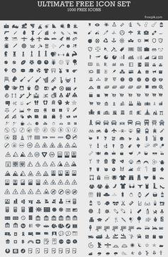 Web design freebies, Ultimate Free Icon Set (1000 Icons)