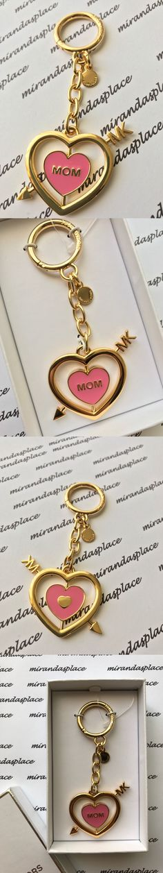 Key Chains Rings and Finders 45237: New Michael Kors 32T6gkck1r Misty Rose Rotating Mom Heart Keychain Charm Boxed -> BUY IT NOW ONLY: $34.99 on eBay!