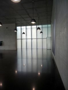 Interior of das Kunsthaus at Bregenz designed by Peter Zumthor.